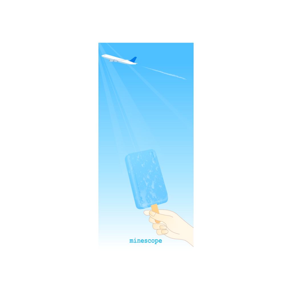 青空とアイスキャンディ-iPhone用のサムネイル画像