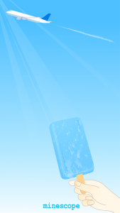 青空とアイスキャンディ壁紙-iPhone5・5S・5C・SE向け