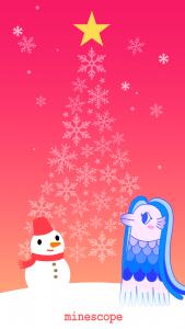 クリスマスのアマビエ壁紙-iPhoneSE2・8・7・6・8 Plus・7 Plus・6 Plus向け