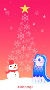 クリスマスのアマビエ壁紙-iPhone5・5S・5C・SE向け